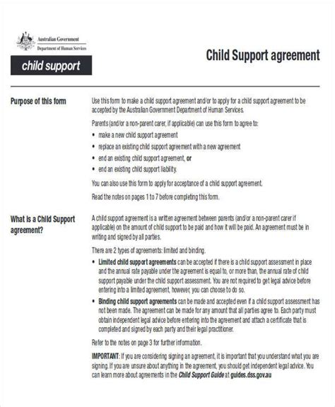 Child Support Agreement by Child Support Agreement Template Child Support Review Letter Sle Child Support Agreement