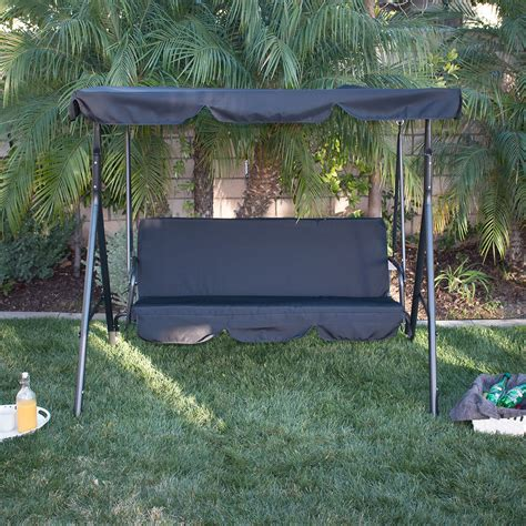garden swing hammock prices 3 person patio swing canopy tilt awning hammock steel