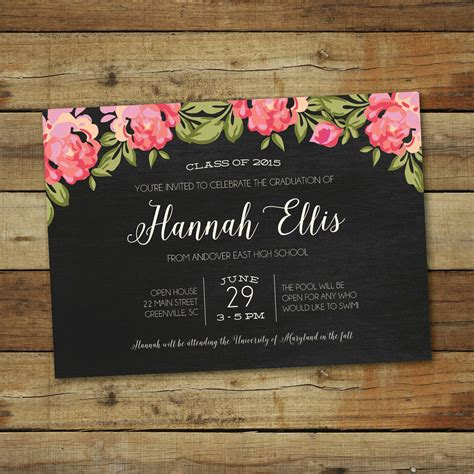 Invitation Cards Templates For Graduation by Graduation Invitation Graduation Invitation Templates