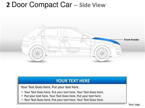 2 door compact cars 2 door blue compact car side view powerpoint presentation