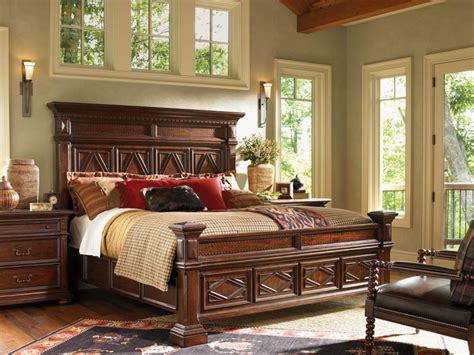 dark brown wood bedroom furniture lexington bedroom furniture set for entrancing bedroom
