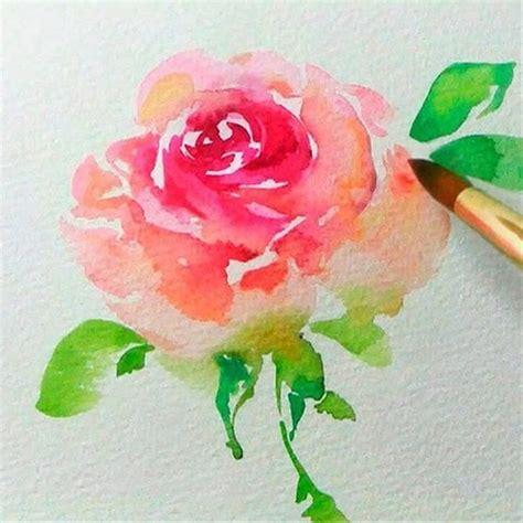 simple  beginner friendly watercolor ideas