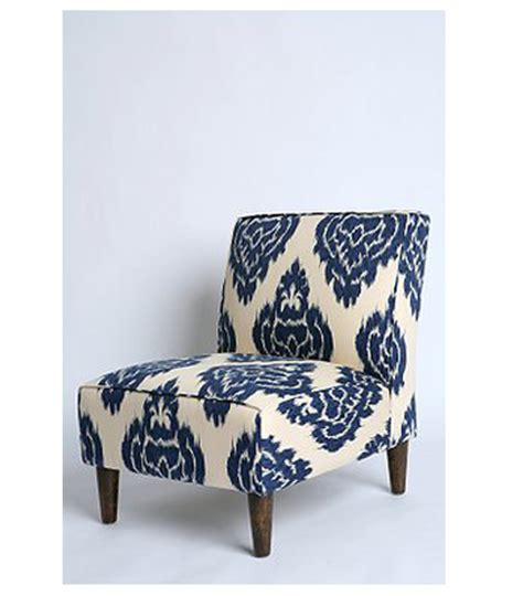 ikat slipper chair the modern sophisticate pair blue ikat gold