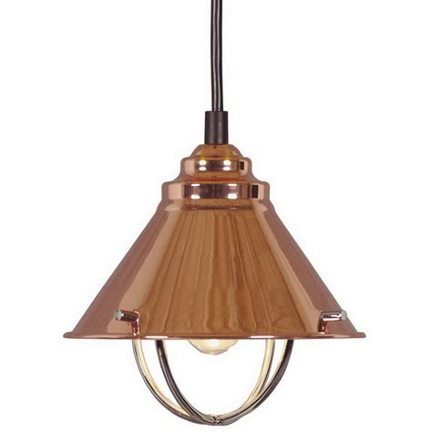 Copper Pendant Light Shades Shop Kenroy Home Harbour 7 In W Copper Mini Pendant Light With Metal Shade At Lowes