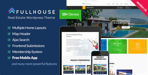 themeforest real estate themeforest fullhouse download real estate responsive