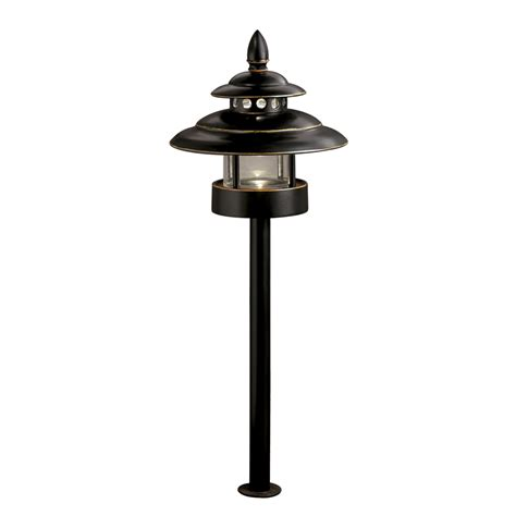 Low Voltage Led Landscape Lights Shop Allen Roth Bronze Low Voltage Led Path Light At