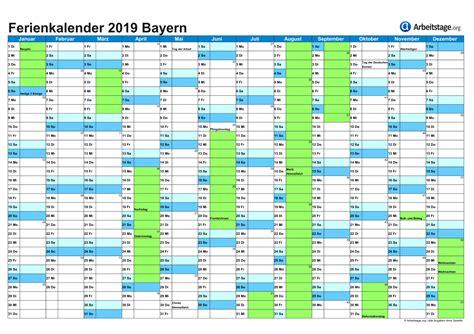 Kalender 2018 Zum Ausdrucken Mit Ferien Bayern Ferien In Bayern By 2018 2019 Ferienkalender