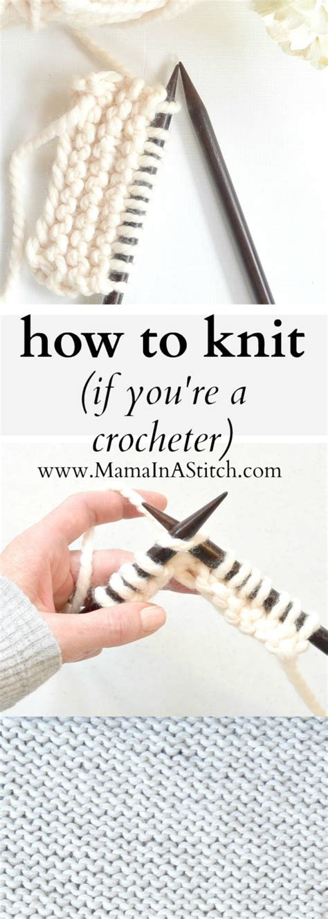 how to knit how to knit if you crochet in a stitch