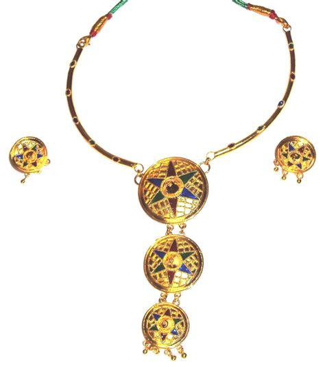 Handmade Indian Jewellery - ethnic handmade indian assamese gold jewellery japi set