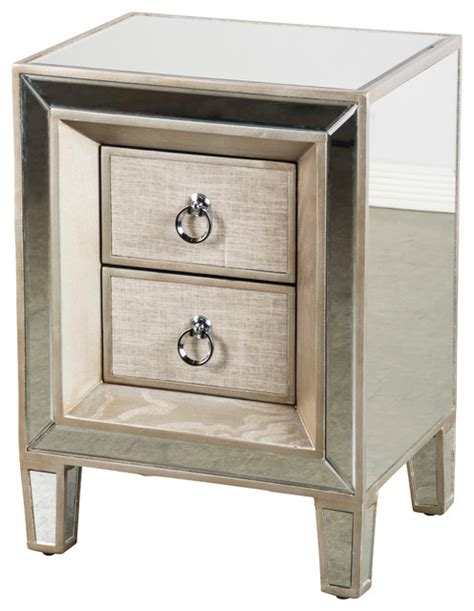 nightstands bedside tables cassidy mirrored nightstand contemporary nightstands