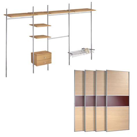 b q oak style maroon glass sliding wardrobe doors