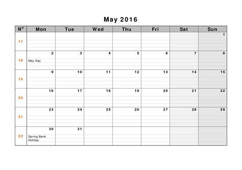may 2017 weekly printable calendar blank templates