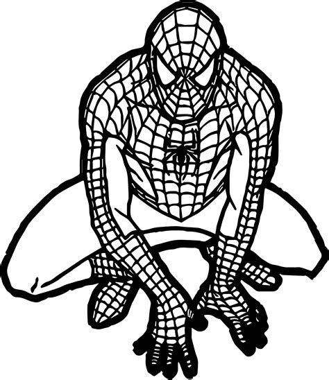 baby spider coloring page spiderman clipart black and white free download best