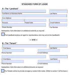 template lease agreement 5 free lease agreement templates excel pdf formats