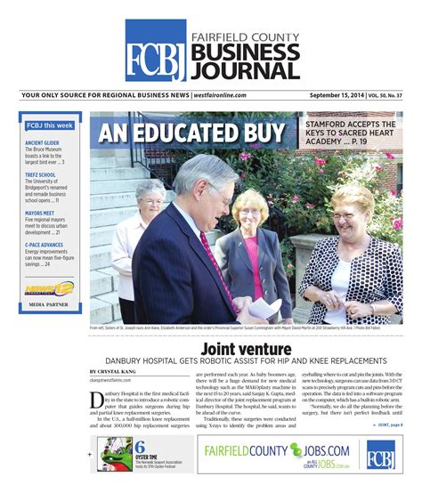 Sacred Mba Stamford by Fairfield County Business Journal 091514 By Wag Magazine
