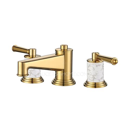 gold bathroom faucet luxury polished brass three gold bathroom sink faucet