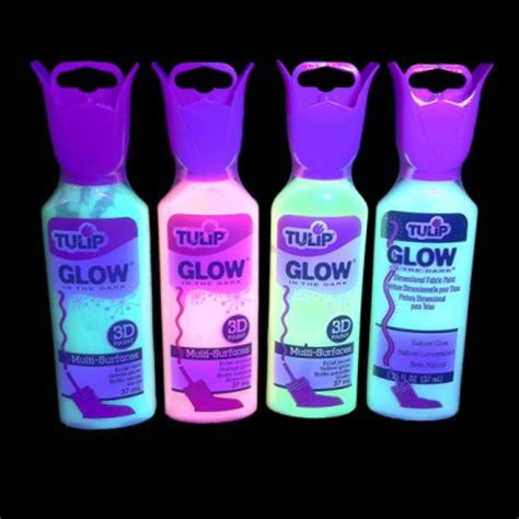 jual glow in the fabric paint tulip glow in the fabric paint