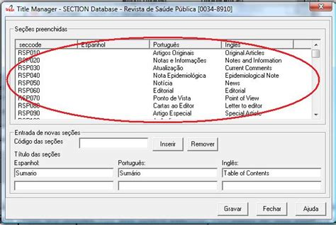 section list sections scielo pc programs 4 0 094 documentation