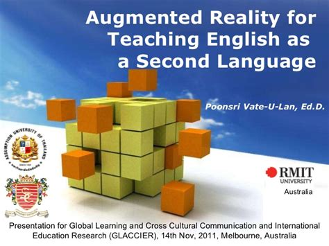 Augmented Reality For Teaching English Augmented Reality Ppt Template
