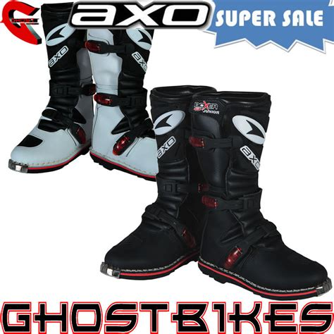 childrens motocross boots axo boxer junior road trial trials motocross