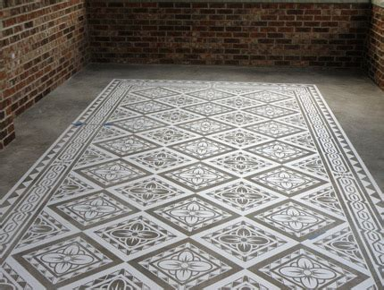 modello concrete carpets floor stencils paint pattern