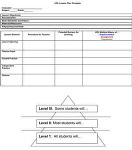 Universal Design For Learning Lesson Plan Template by Lesson Plan With Udl And Mtss Considered Guide