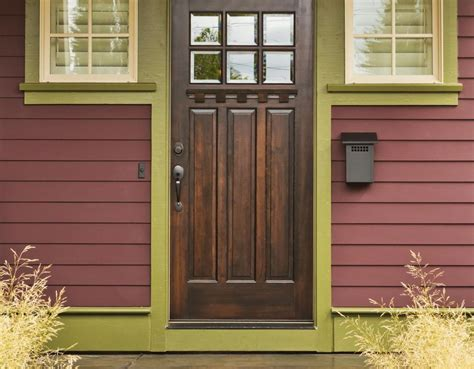 solid wooden exterior doors hollow vs solid wood doors