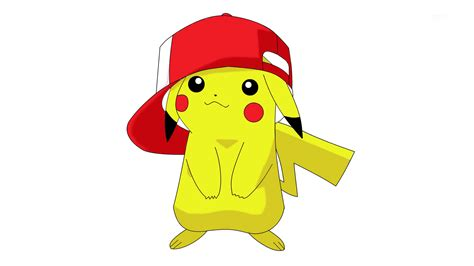 pokemon pikachu game pikachu wearing ash s hat full hd wallpaper and background