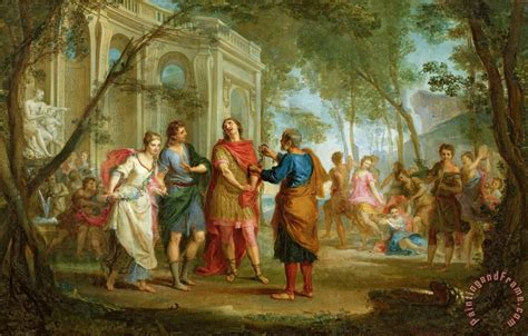 louis galloche roland learns of the of and medoro painting roland learns of the