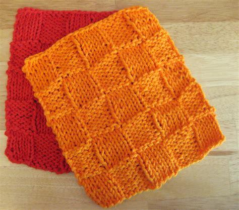 knitted basket weave dishcloth pattern basket weave dishcloth of