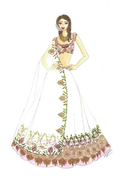 fashion illustration indian indian bridal look anushree reddy at lakme fashion week