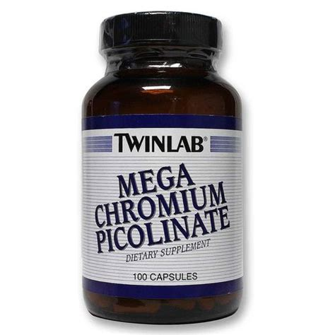 Chromium Picolinate Detox Liver by Twinlab Mega Chromium Picolinate 100 Caps Evitamins