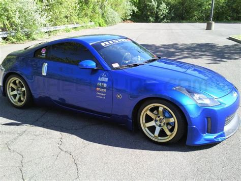 blue nissan 350z with black rims blue 350z gold rims pixshark com images galleries