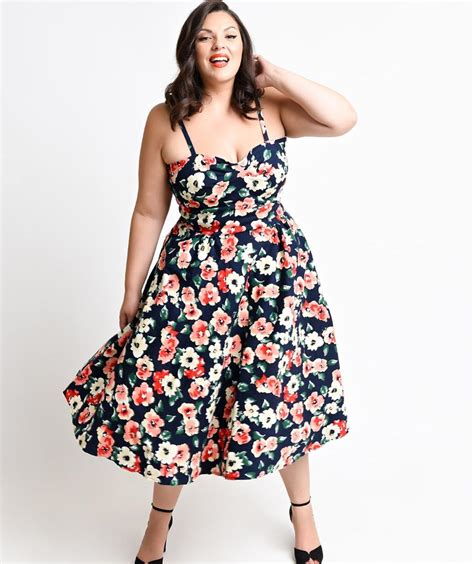 plus size vintage cocktail dress pluslook eu collection