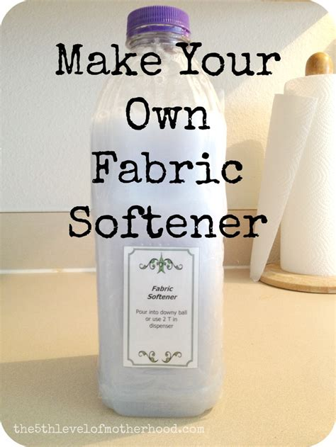 homemade fabric softener diy cleaning products pinterest make your own fabric softener