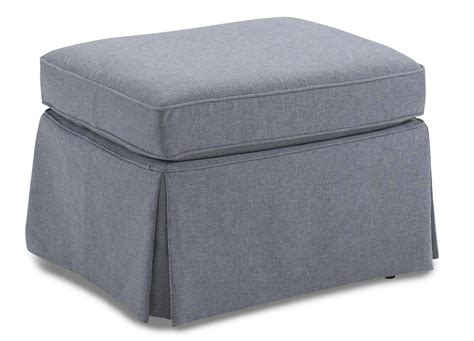 skirted ottoman skirted glider ottoman by best home furnishings wolf and