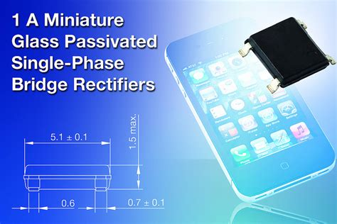 Vishay 2w08g Glass Passivated Single Phase Bridge Rectifier 2a 800v power systems design psd information to power your designs