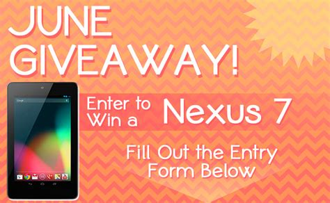 Mobile Home Giveaway On Facebook - nexus 7 giveaway on facebook