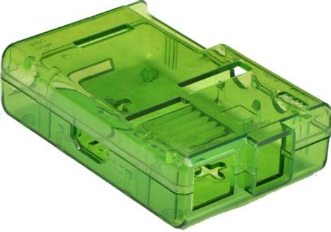 Casing Raspberry Pi 3 Model B Putih Semi Transpara Murah raspberry pi box enclosure transparent green toolfanatic