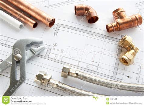 plumbing tools and materials stock photos image 22001483