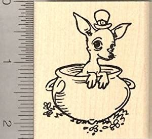 rubber st crafts st s day chihuahua leprechaun rubber
