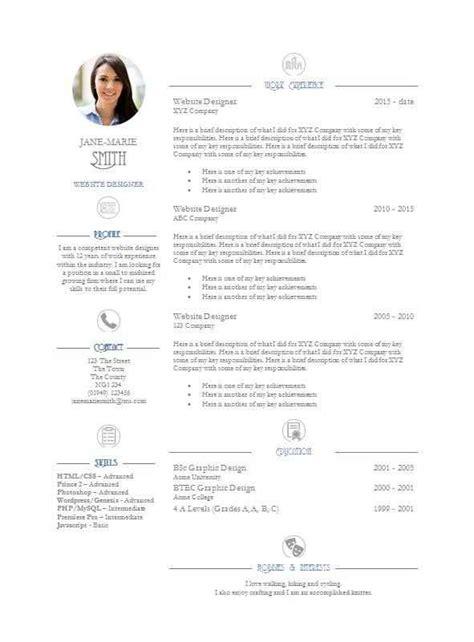 Detailed Cv Template by Elegance Cv Template Free Cv Template Master