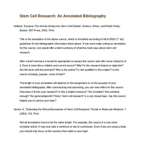 simple annotated bibliography template 10 free word