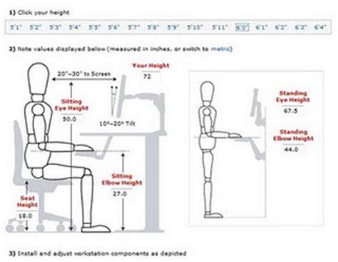 Office Desk Height Calculator 197 134 Digital And Visualisation Chair Ergonomics Calculator