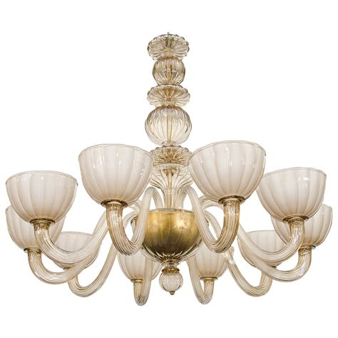 Venetian Glass Chandelier Colored Venetian Glass Chandelier At 1stdibs
