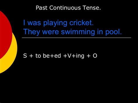 pattern of past continuous tense patterns with tenses