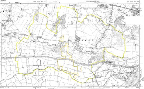 map o lympne parish 1938 39 o s map of lympne
