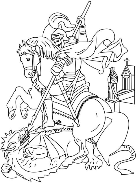 Free Coloring Pages Of Drawings Of St George Coloring Pages Of Saints