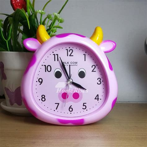 modern alarm clock cute funny abs plastic painting unique