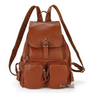 Cowhide Leather Backpack Brown Leather Backpack For Women Crazy Backpacks